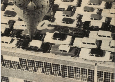 "Untitled (Cars on Rooftop), Illustration for Caesar's Gate, ""Moving in Your Sights"""
