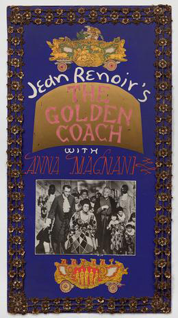 Jess Collins movie poster for Golden Coach by Jean Renoir
