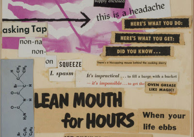 "Jess Collins paste-up ""Untitled (Lean Mouth for Hours)"""