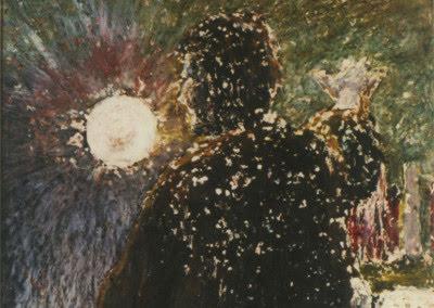 Jess Collins painting LXXI. Qui Auget Scientiam Auget Dolorem
